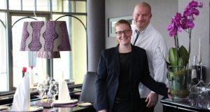 Jana Metting und Küchenchef Philipp Liebisch