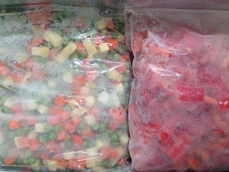 Frozen vegetables taken with iPhone
