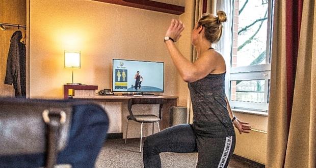 Frau bei Workout