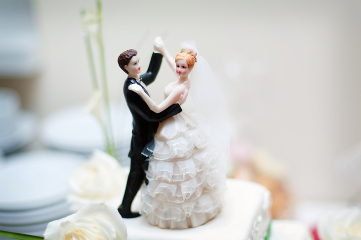 wedding decoration on the cake</p><p>